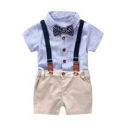 cc87c586ccb ensemble rayé pour garçons Promotion Bleu et blanc rayé barboteuse  vêtements pour bébé garçon costume d