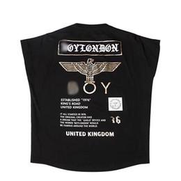 Printemps et été 2019 nouveau T-shirt à manches courtes BOY pour homme en coton lâche demi-manches en aigle Version anglaise London couple marée carte ? partir de fabricateur