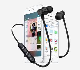 téléphone portable moins cher Promotion XT11 Magnet Casque Sans Fil BT4.2 Bluetooth Écouteurs avec Micro Écouteurs Basse Casque pour IPhone Samsung LG Smartphones avec Boîte de Détail