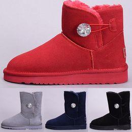 2019 vendita calda Australia Classic stivali da neve di alta qualità a buon mercato donne stivali invernali vera pelle Bailey Bowknot delle donne bailey arco neve boo da scarponi da cowboy in tacco alto fornitori