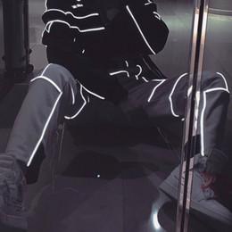 Pantalon vintage hommes à carreaux en Ligne-119SS Ambush 3 M Réfléchissant Rayures Pantalons De Survêtement Hip Hop Rue Pantalon De Survêtement De Mode Vintage Casual Pantalon Hommes Femmes Sport Pantalon