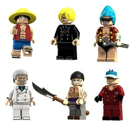 Figura mini anime de uma peça on-line-Japão desenhos animados Anime One Piece Luffy Garp Franky Sakazuki Edward Newgate Sanji Mini Action Figure Building Blocks Toy