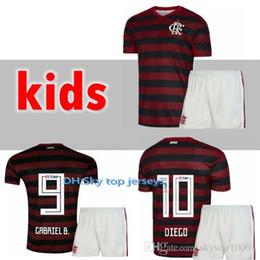 Kits para crianças 19 20 Flamengo camisa de futebol Flamenco DIEGO GUERRERO E .Ribeiro MANCUELLO H.DOURADO VINICIUS JR Brasil Crianças 2019 2020 Meninos de