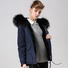 2020 Meifeng Brand Black Raccoon Fur Trim Winter Coats For Sale Women Snow Jacket Navy Blue Down Fill Lining Navy Blue Long Parkas From Qltrade_2,