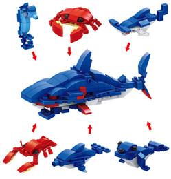 6 em 1 dinossauro militar mini cena de rua inseto fundo do mar quebra-cabeça infantil brinquedo diy torcido blocos de ovo de
