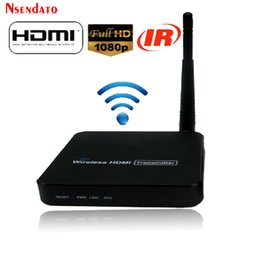2019 remitentes de video hdmi transmisor receptor 1080P 5.8GHz Transmisor inalámbrico de video Receptores remitente HDMI H.264 Wifi Wireless Extender con control remoto IR Hasta 100 m remitentes de video baratos