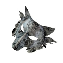 Canada 2019 Loup Animal Masque Festival Halloween Party Cosplay Costume Loup Ball Bar Décoration Adulte Masque Or Et Argent En Gros cheap animal wolf mask Offre