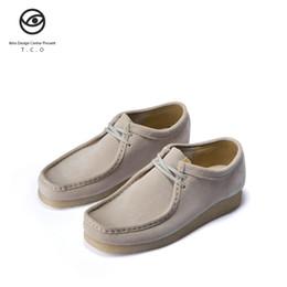 La migliore qualità Tco canguro scarpe da uomo basso aiuto stivali Wallabee Vintage Inghilterra vento casuali casuali da uomo scarpe TCO ikiru da