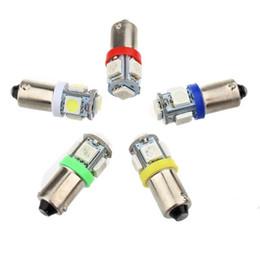 bajonettlampe Rabatt BA9S 5050 5SMD 1.2W 6500K 70LM 12V Instrument Lampe Kfz LED Kennzeichenbeleuchtung 12V Bajonett LED-Lampen