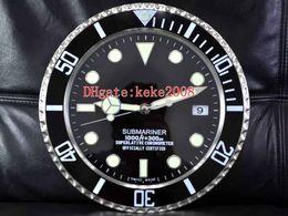 mochila eletrônica Desconto 8 Estilo Topselling Moda Excelente 116610 116710 Relógio de parede 34CM x Aço 5cm 3KG inoxidável Quartz Eletrônica azul luminescentes Relógio