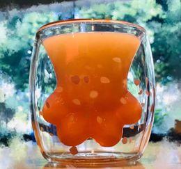 2019 milchglas freies verschiffen Hot Cat Claw Cup hitzebeständige Doppelwand Glasschale Kaffeetasse Handgemachte Kreative Milch Becher Tee Whisky Glasschale Kostenloser Versand günstig milchglas freies verschiffen