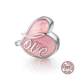 Amore doni cina online-monili di alta qualità Amore a forma di cuore 925 ciondoli in argento sterling per i regali bracciale charms fidanzata prezzi bassi Commercio all'ingrosso Cina