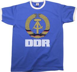 Canada DDR Allemagne de l'Est Herren Ringer T-Shirt Rétro Style Cadeau D'anniversaire De Drôle livraison gratuite Unisexe Casual cheap free ddr Offre