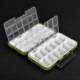 señuelos de agua Rebajas Gran caja de almacenamiento de resistencia al agua Señuelo de pesca con mosca Cuchara Gancho Cebo Caja de aparejos Verde del ejército