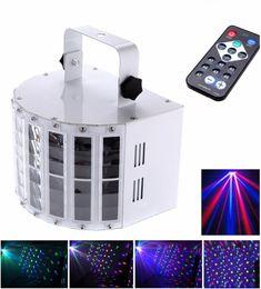 2020 controllo automatico della luce 6 canali RGBW Dmx512 LED Mini Butterfly Stage Light Effetto a comando vocale Controllo automatico LED Flash Laser Light controllo automatico della luce economici
