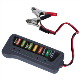 clips de batería 12v Rebajas 12V 6led indicador de batería y el alternador del coche probador de la motocicleta del coche camión del probador de la batería con dos clips
