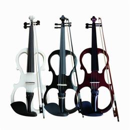 touche de violon Promotion Violon en bois pleine taille 4/4 violon électrique silencieux Style-3 touches ébène touche repose mentonnière