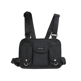 Тактическая сумка для талии онлайн-2019 модная грудная клетка, талия, сумка хип-хоп, уличная одежда, функциональная тактическая грудная сумка, сумка через плечо bolso Kanye West