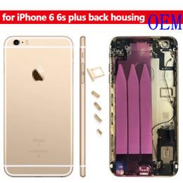 Argentina Para iPhone 6 Plus, batería, puerta trasera, caja del teléfono, caja de repuesto con piezas, carcasa de la batería, puerta con logotipo, cubierta trasera metálica híbrida Suministro