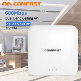 2019 modems lte 4g desbloqueados COMFAST Sem Fio AP CF-E356AC 600 Mbps Teto AP 802.11AC 5.8G + 2.4G Indoor 48 V Potência POE 16 Flash WiFi Access Point Amplifer