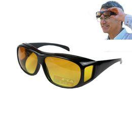 Sobre óculos on-line-HD Night Vision Driving Sunglasses Men Lens Amarelo Mais Wrap Around óculos escuros condução Óculos UV400 óculos de proteção Anti Glare RRA2195