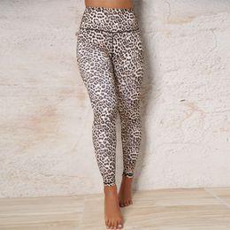 2019 il yoga passa il leopardo Pantaloni da yoga a vita alta con pantaloni a vita alta, pantaloni a vita alta, leggings da palestra sconti il yoga passa il leopardo