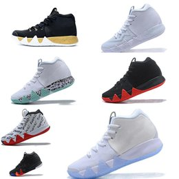 men Basketball Shoes for Cheap Sale Sneakers Sports Irving 4 mens Shoe Wolf  Grey Team Red Outdoor Trainers BasketBall shoes Size 40-46 2e4d4be00