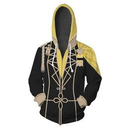 cosplay hoodies zipped Promo Codes - Game Fire Emblem: Three Houses Eliwood Costumes Fire Emblem Seth Hoodies Jackets Cosplay 3D printing Zip Up Hoodies Sweatshirts
