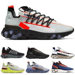 cadono scarpe da corsa Sconti Nike React WR ISPA running Scarpe Mastermind Japan Zebra Skull Fall Verde oliva Glitch Black White Blue Camo Pack uomo scarpe sportive donna 36-45