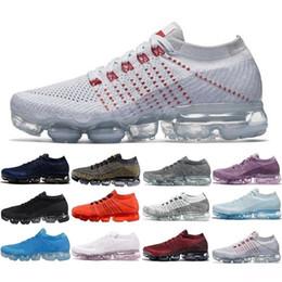 Zapatillas de deporte de las mujeres online-Venta 2018 Nike Air Max Vapormax 2018 1 1.0 I Women Men Shock Racer Zapatos para correr Triple Negro Rojo Gris Zapatillas deportivas de moda Zapatillas de deporte de mujer 36-45