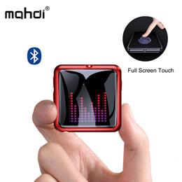 2019 reproductor de música mp3 con pantalla táctil Mahdi M260 Reproductor de MP3 Bluetooth 4.1 Grabadora de voz Reproductor de música Mp3 Pantalla táctil HIFI portátil USB Metal Tarjeta TF Fm Video Mini reproductor de música mp3 con pantalla táctil baratos