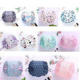 travel makeup brushes Coupons - Women Lazy Drawstring Cosmetic Bag Portable Beauty Toiletry Pouch Brush Storage Organizer Waterproof Travel Makeup Case 18 Colors