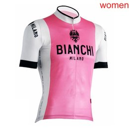 175fc0a29 Women Cycling Jersey bianchi Summer Mountain bike short sleeve Jersey ropa  ciclismo Bicycle shirts Pro team riding wear 010902Y