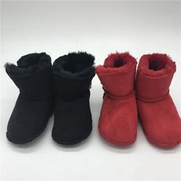 botas de inverno rosa bebê menina Desconto Desinger Sapatos de Bebê Infantil Botas de Inverno Botas de Neve de Couro Genunie Quente para o Bebê meninas meninos Pé Aquecedor Rosa Lindo Sapatos