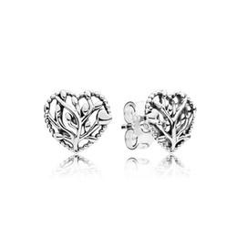 Argentina Kristie 100% 925 St0erling Silver Authentic New Love Tree Charm Pendientes Temperamento Original Mujeres Joyería Ventas directas de la fábrica Suministro