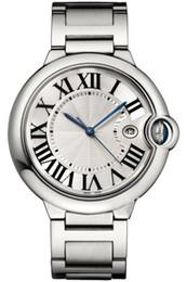 Top Mens orologio sportivo CAR BALLON W69012Z4 Serie 42MM bianco con Data manopola rotonda Movimento automatico della cinghia dell'acciaio inossidabile uomini Swiss Watch da oulm orologio bianco fornitori