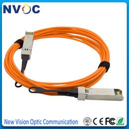 2019 3m fibra óptica Envío gratis 40G QSFP-QSFP AOC Cable óptico activo 3M OM2Multimode Fiber, 850nm QSFP 3Meter AOC Cable óptico 3m fibra óptica baratos