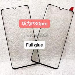 2019 3d-приложения для huawei Оптовая 100 шт. 3D Полный Клей Закаленное Стекло Дело Дружественные Для HuaWei P30 Pro Mate 20 Pro Бесплатно DHL дешево 3d-приложения для huawei