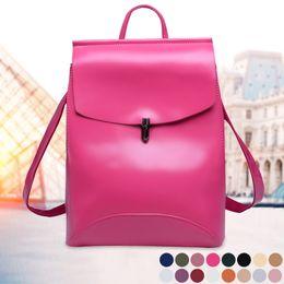 79dd7a2f795b Oeak Women Backpack Fashion Shoulder Bag Solid Color Travel Backpack PU  Leather Backpacks for Teenage Girls School Bagpack
