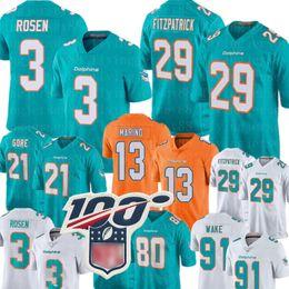 Delfines online-Jersey de Miami 3 Josh Rosen Dolphins 29 Camiseta de Minkah Fitzpatrick 13 Camiseta de Dan Marino 80 Danny Amendola 21 Frank Gore 91 Camisetas de Cameron Wake
