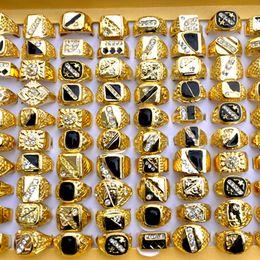 оптовые кольца стерлингового серебра Скидка 30 шт./лот старинные 18-22 мм классические мужские позолоченные горный хрусталь металлическое кольцо свадьба широкие кольца ювелирные изделия