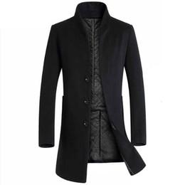 Männer wollkleidung online-Außenhandelwintermänner lange Körperordnung woolen Graben woolen Art und Weisespitzenmantel, der hochwertige Geschenkkleidung des heißen Verkaufs dropshipping ist