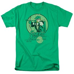 grünes pfeilhemd Rabatt Grüner Pfeil-klassischer DC-Comic-Held bereit, Ziel-T-Shirt Erwachsener S-3XLFunny freies Verschiffen zu schießen Unisexbeiläufiges T-Shirt
