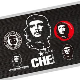 Diseños de etiqueta de la puerta de cristal online-Parabrisas del coche de los accesorios de la etiqueta engomada Che Guevara ventana de la puerta de cristal reflectante 5 Diseño de sintonización automática de la motocicleta accesorios de estilo
