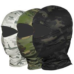 Mascara de camuflaje de caza online-Multicam CP Camuflaje Pasamontañas Máscara de cara completa Wargame Ciclismo Caza Casco de bicicleta Forro táctico Airsoft Cap