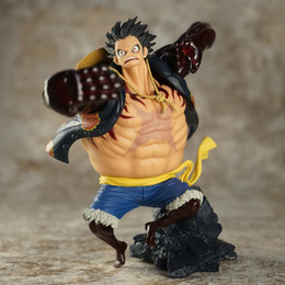 Luffy action figur spielzeug online-17 cm One Piece Gear Vierte Affe D Ruffy Anime Sammeln Action Figure Pvc Spielzeug Für Weihnachtsgeschenk Freies Verschiffen Y19051804