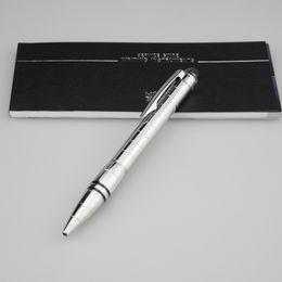Kristallkappe Pen Mann Metall Kugelschreiber Bürobedarf Qualität Griff Luxus Design Pen Advanced Silber Ball Penna Material Escolar Pens von Fabrikanten