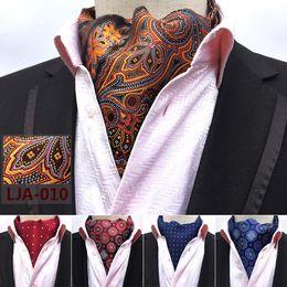 Cravatte di seta di lusso online-Fashion Retro Paisley Cravat Luxury Men Wedding Formal Cravat British Style Gentleman Silk Sciarpe Neck Ties Suit Sciarpe Business Cravatta
