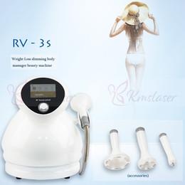la faccia della terapia di vuoto Sconti Portable 3 IN 1 fotone macchina di terapia di vuoto rf RV-3S per occhi, viso e trattamento corpo vuoto fotone cura del viso contro