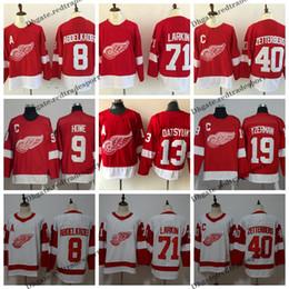 2019 Detroit Red Wings Hockey Jerseys 8 Justin Abdelkader 71 Dylan Larkin  40 Henrik Zetterberg 9 Gordie Howe Datsyuk Steve Yzerman Jerseys 4dbf101cd